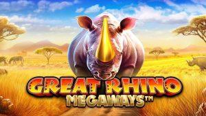 รีวิวเกมสล็อตGreat Rhino Megaways